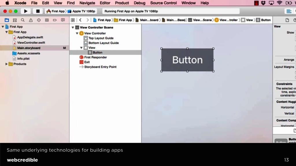 13 Same underlying technologies for building ap...