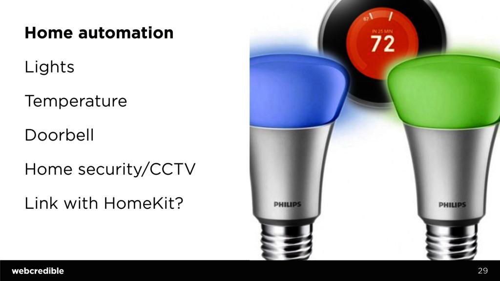 Home automation Lights Temperature Doorbell Hom...
