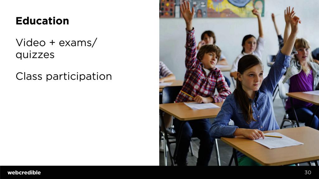 Education Video + exams/ quizzes Class particip...