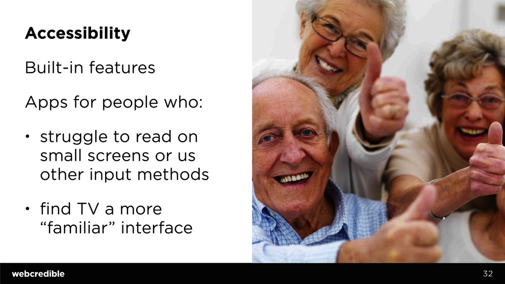 Accessibility Built-in features Apps for people...