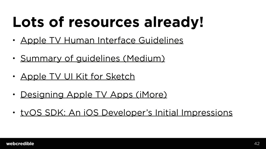 Lots of resources already! • Apple TV Human Int...