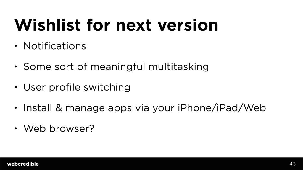 Wishlist for next version • Notifications • Som...