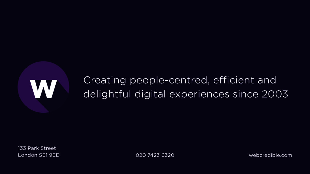 Creating people-centred, efficient and delightf...