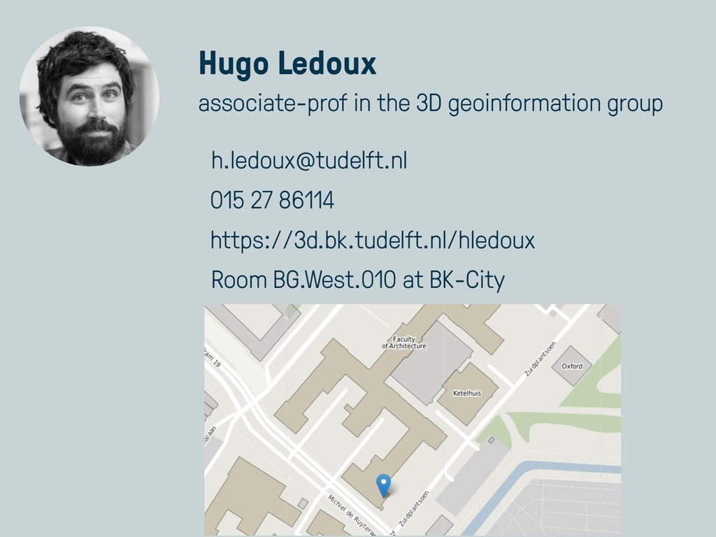 Hugo Ledoux associate-prof in the 3D geoinforma...