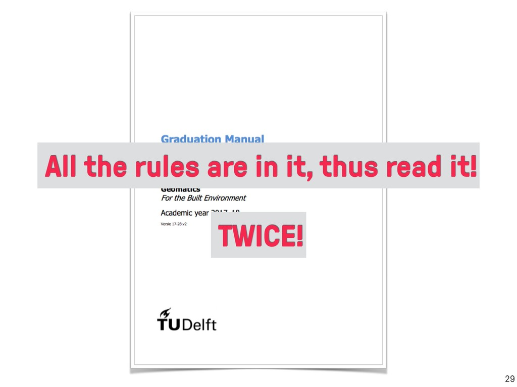 29 TWICE! All the rules are in it, thus read it!