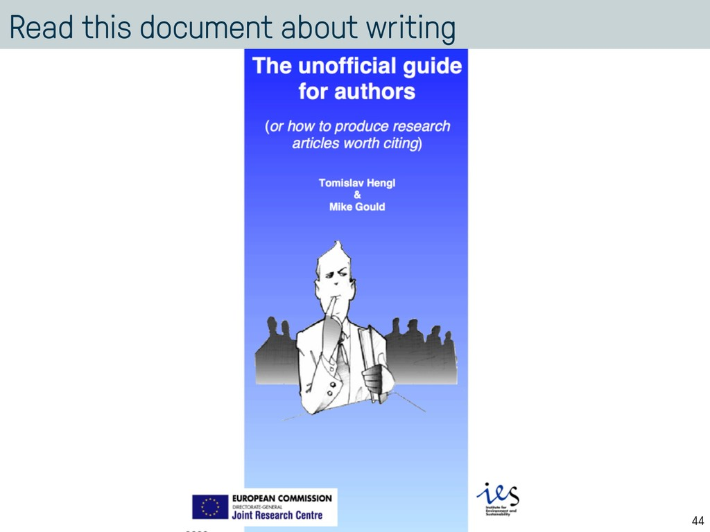 Read this document about writing 44