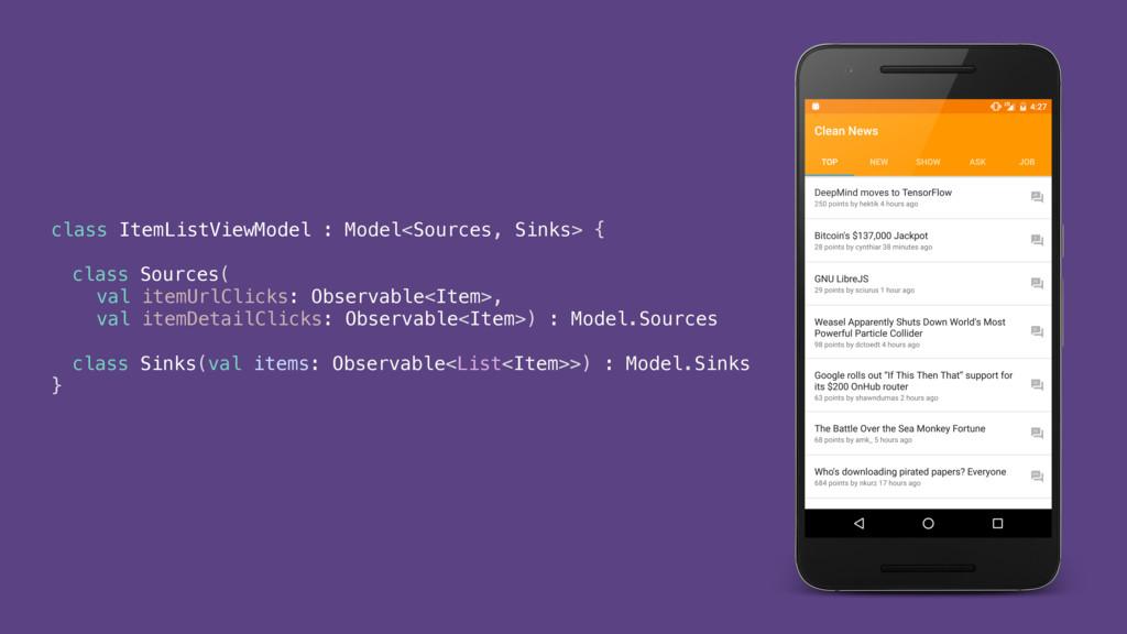 class ItemListViewModel : Model<Sources, Sinks>...