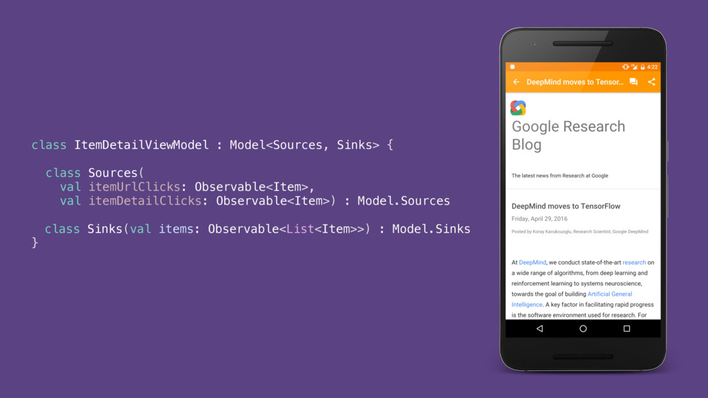 class ItemDetailViewModel : Model<Sources, Sink...