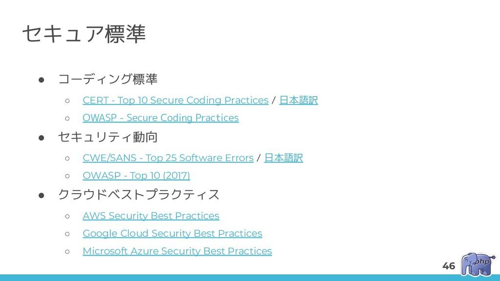 セキュア標準 ● コーディング標準 ○ CERT - Top 10 Secure Coding...