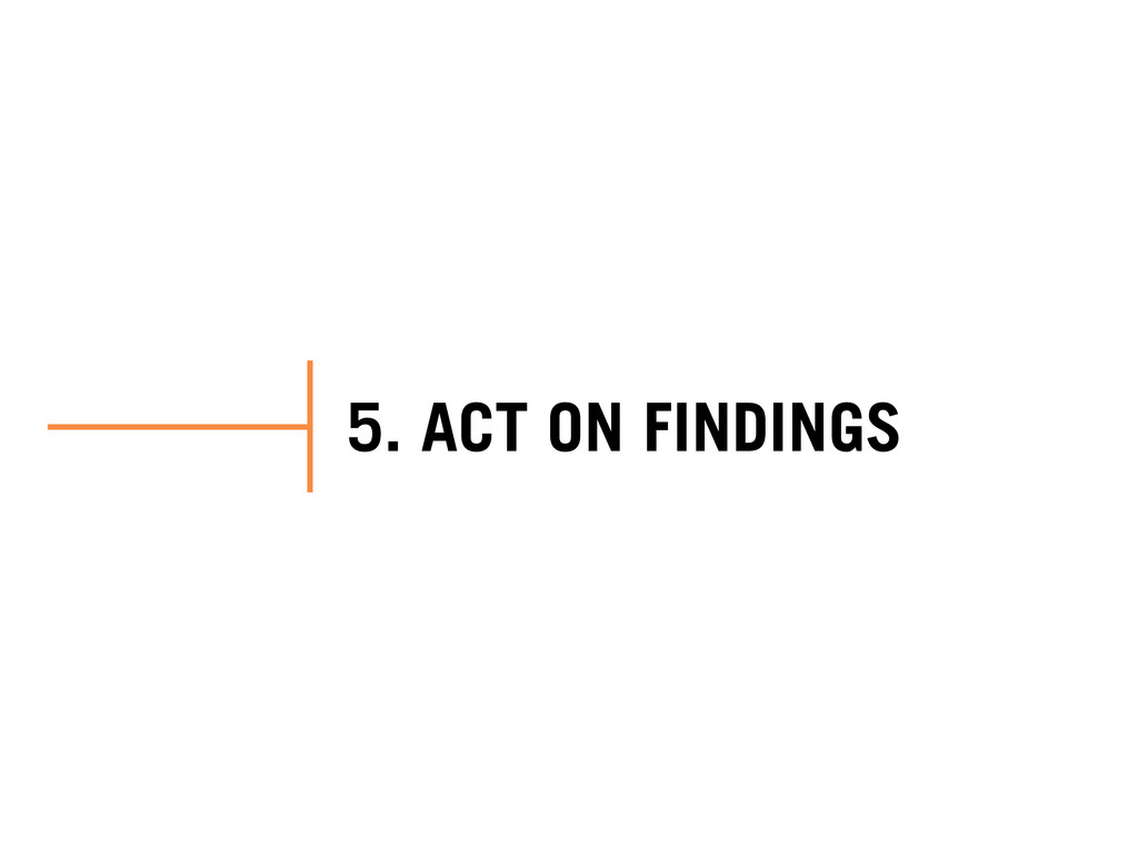 5. ACT ON FINDINGS
