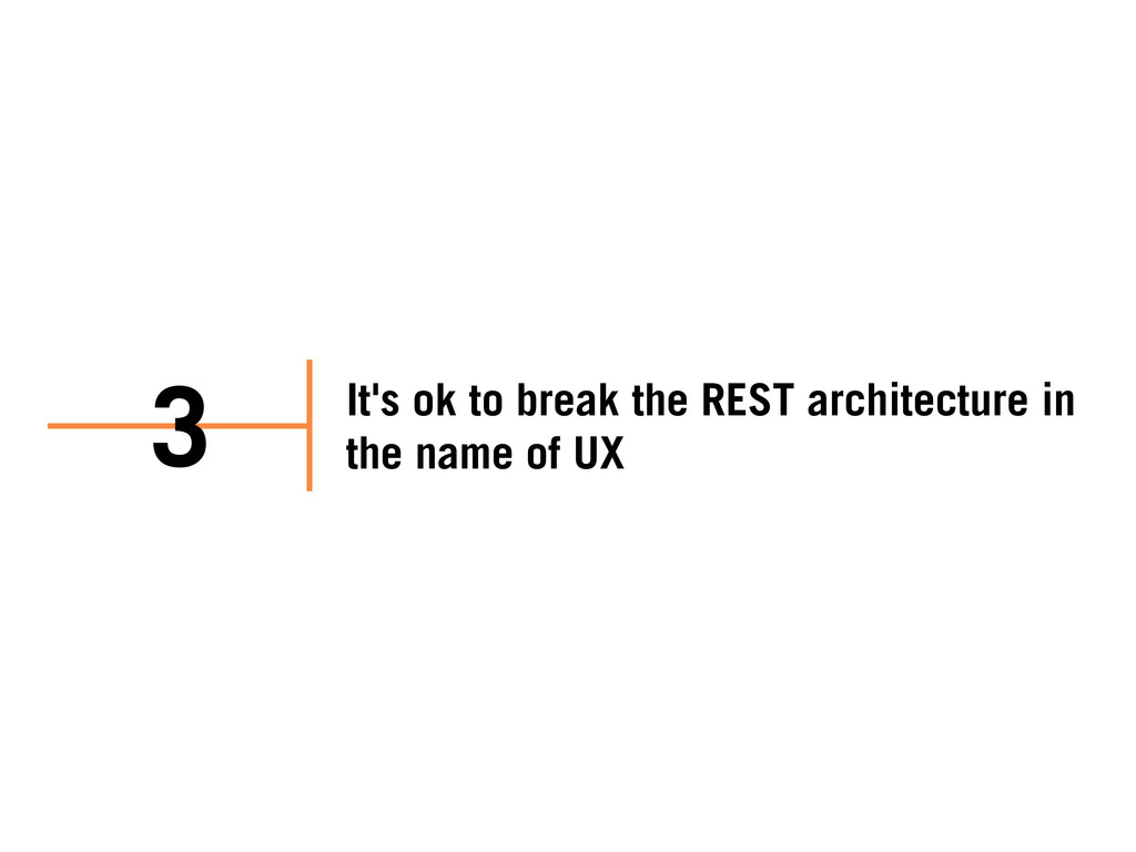 It's ok to break the REST architecture in the n...