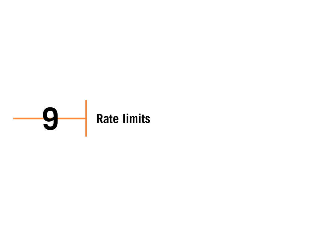 Rate limits 9