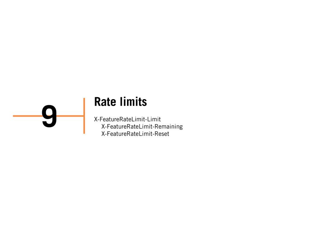 Rate limits X-FeatureRateLimit-Limit X-FeatureR...