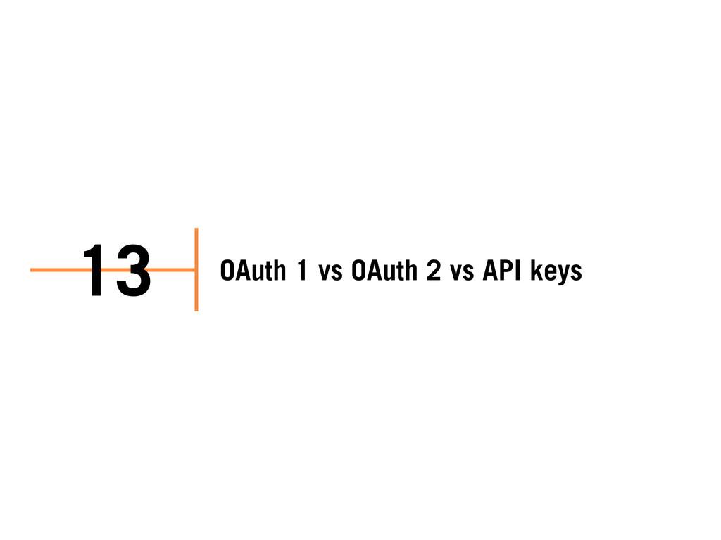 OAuth 1 vs OAuth 2 vs API keys 13