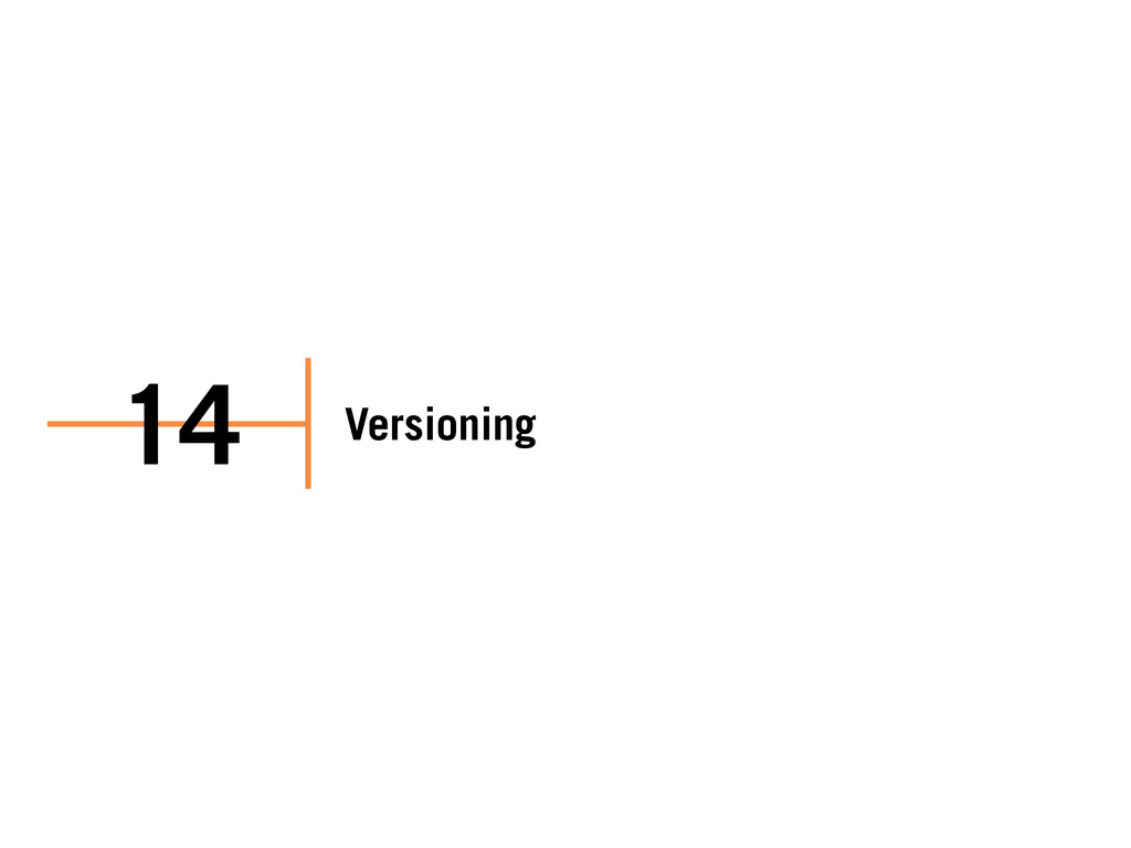 Versioning 14