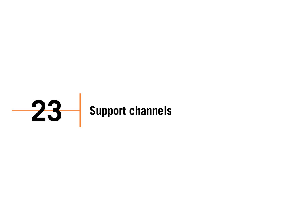 Support channels 23