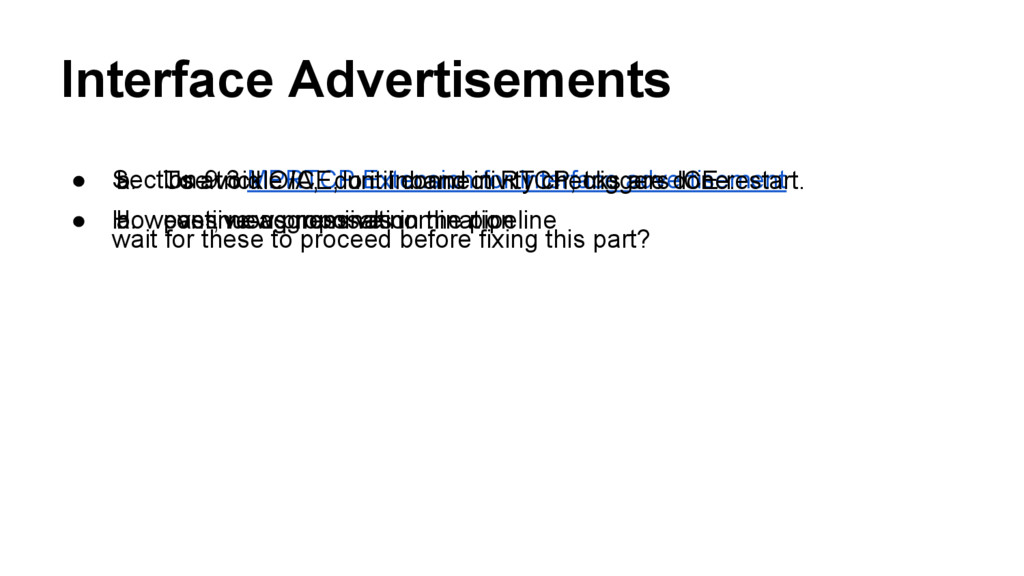 Interface Advertisements ● Section 9.3 MPRTCP E...