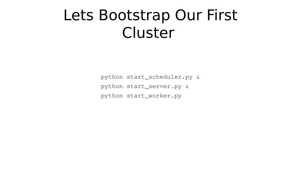 python start_scheduler.py & python start_server...