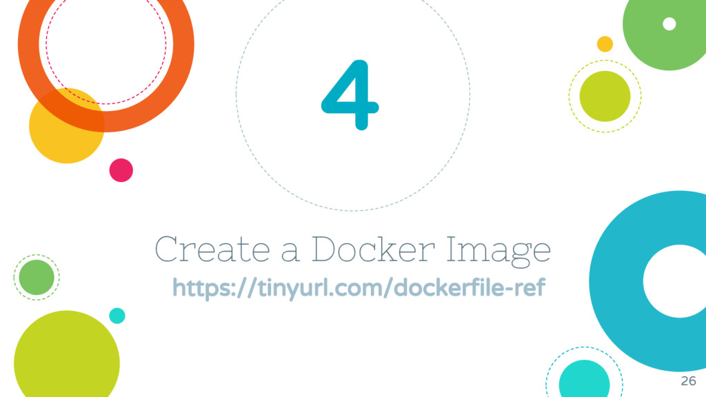 Create a Docker Image https://tinyurl.com/docke...