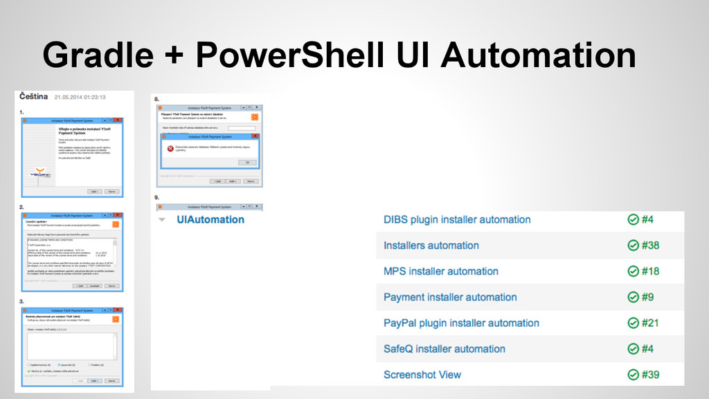Gradle + PowerShell UI Automation