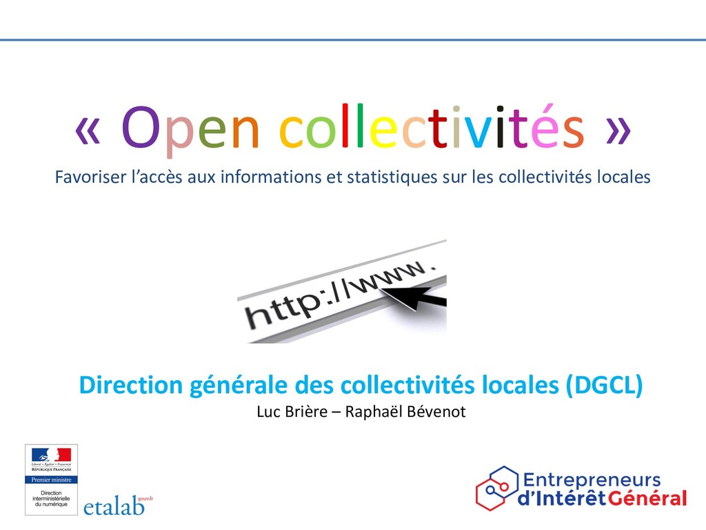 « Open collectivités » Favoriser l'accès aux in...
