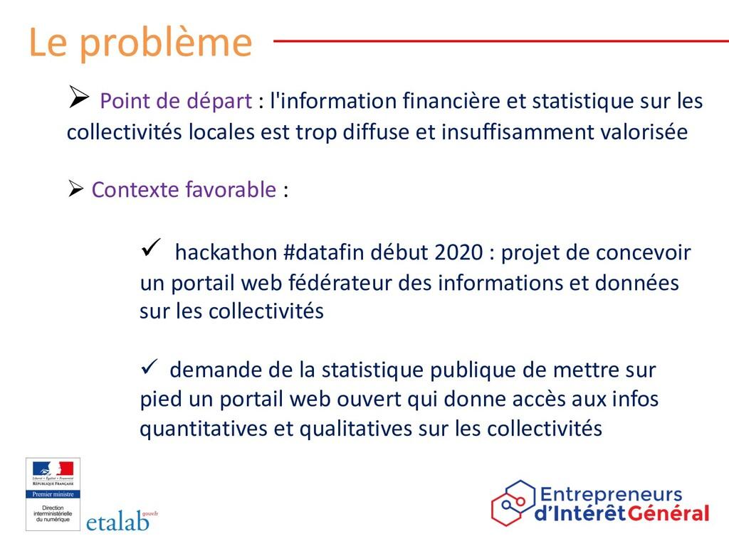 Le problème Ø Point de départ : l'information f...