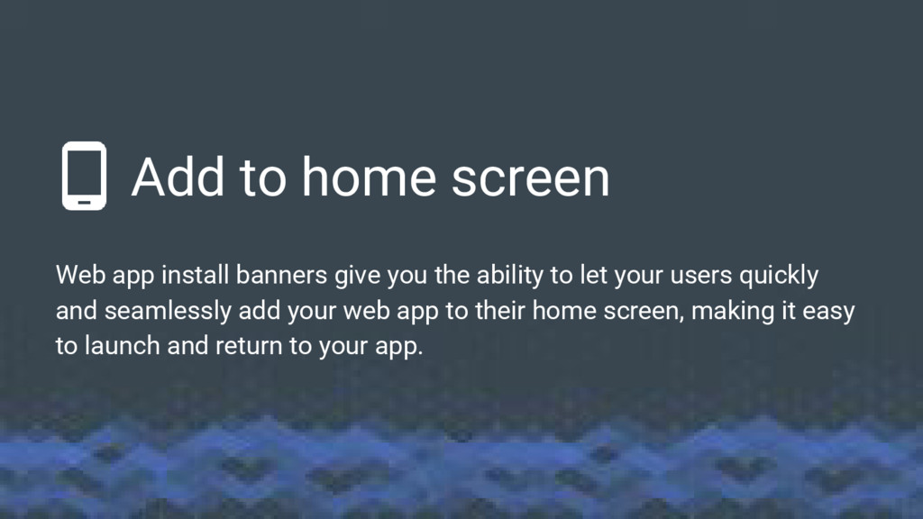 Add to home screen Web app install banners give...