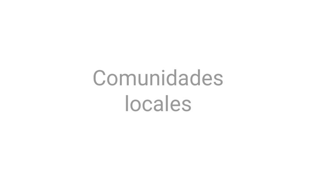 Comunidades locales
