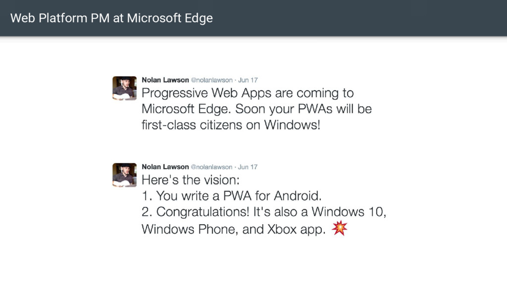 Web Platform PM at Microsoft Edge