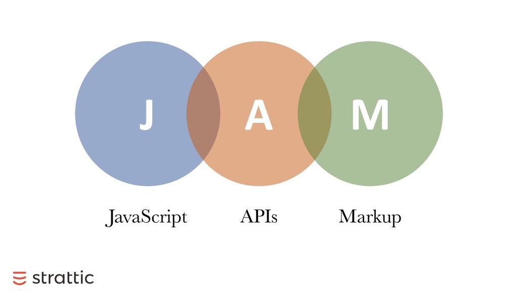 J A M JavaScript APIs Markup