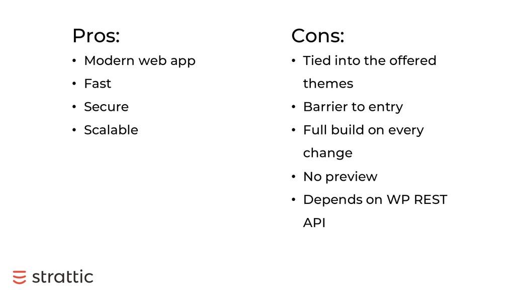 Pros: • Modern web app • Fast • Secure • Scalab...