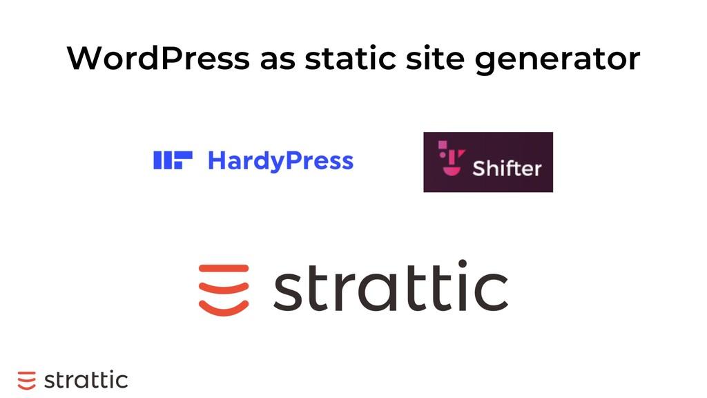 WordPress as static site generator