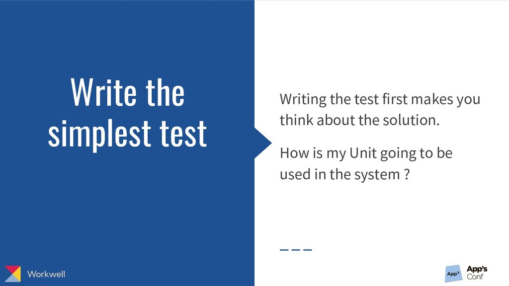 Writing the test first makes you think about th...