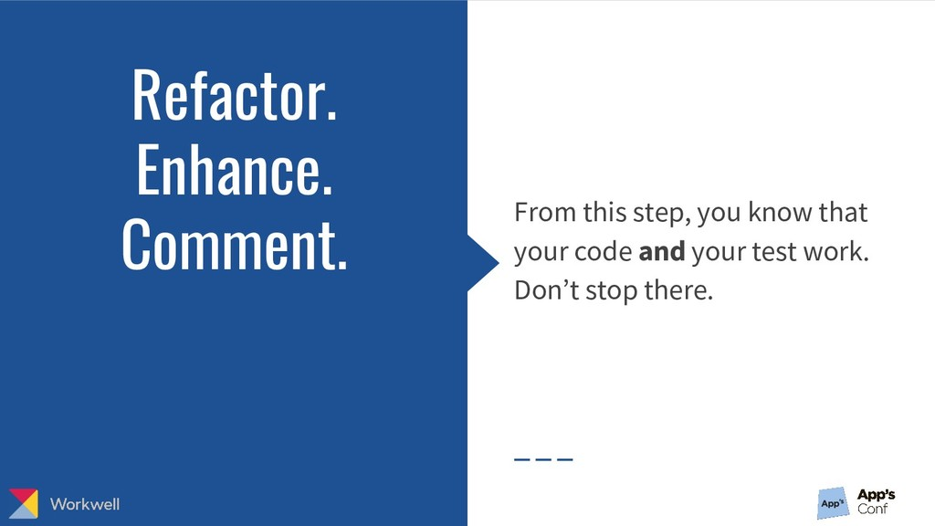 From this step, you know that your code and you...