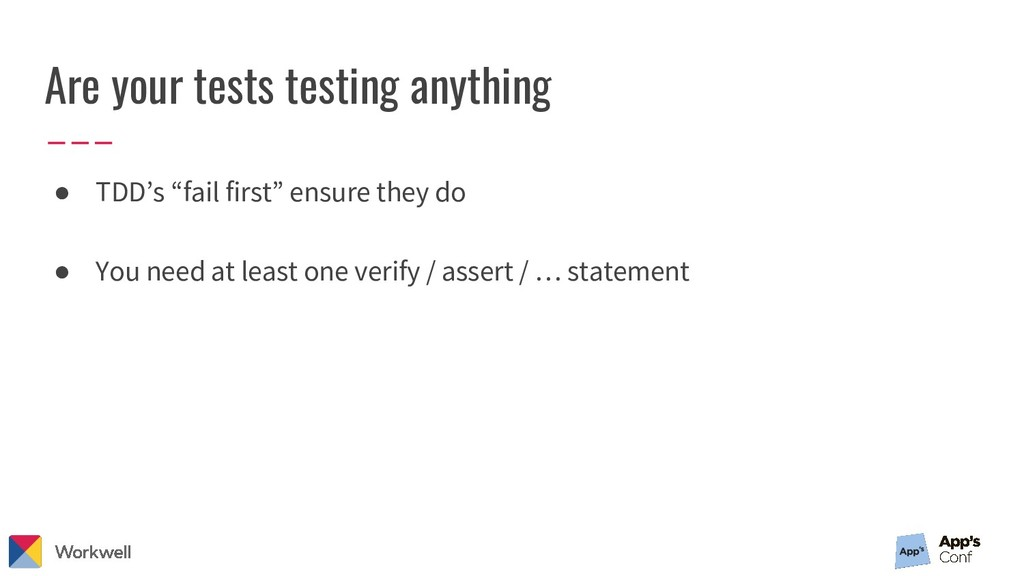 "Are your tests testing anything ● TDD's ""fail f..."