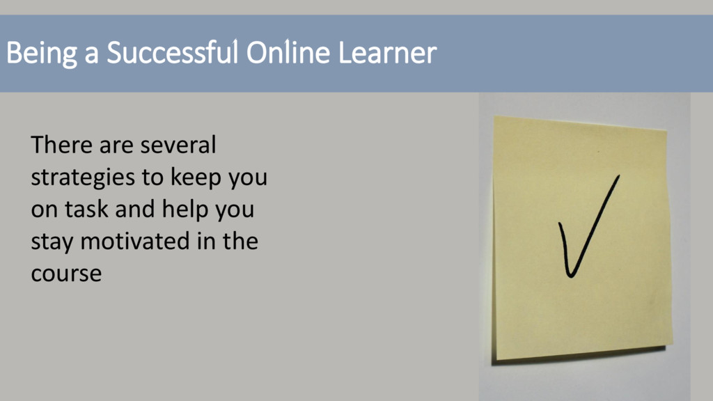 Being a Successful Online Learner There are sev...
