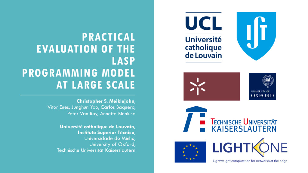 PRACTICAL EVALUATION OF THE LASP PROGRAMMING MO...