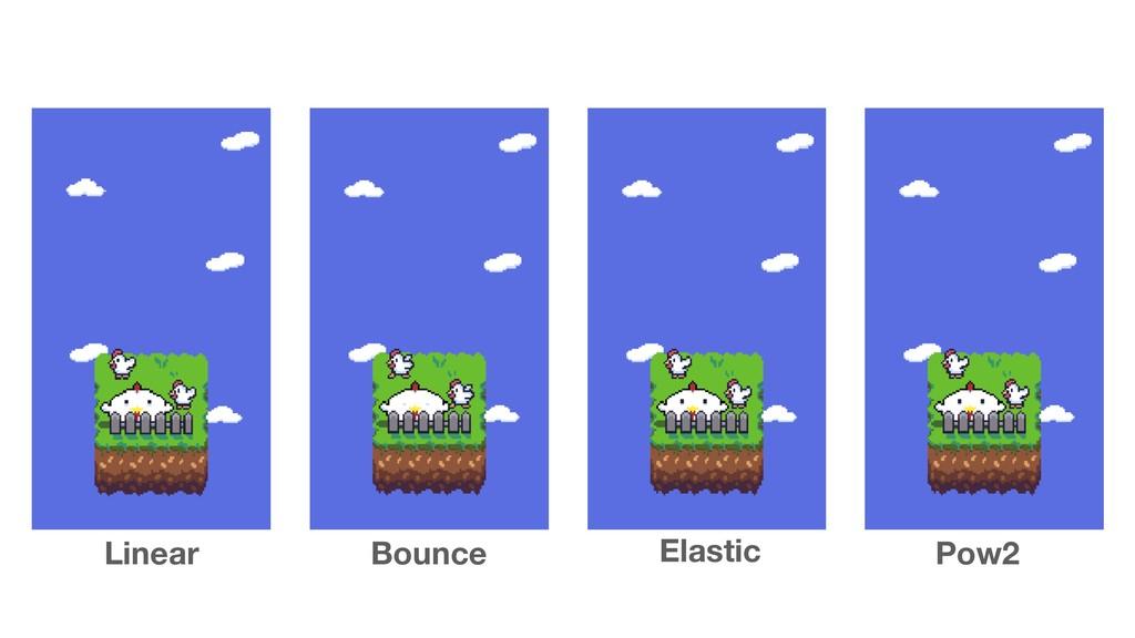 Linear Bounce Elastic Pow2