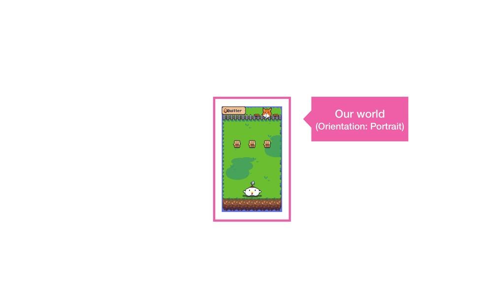 Our world (Orientation: Portrait)