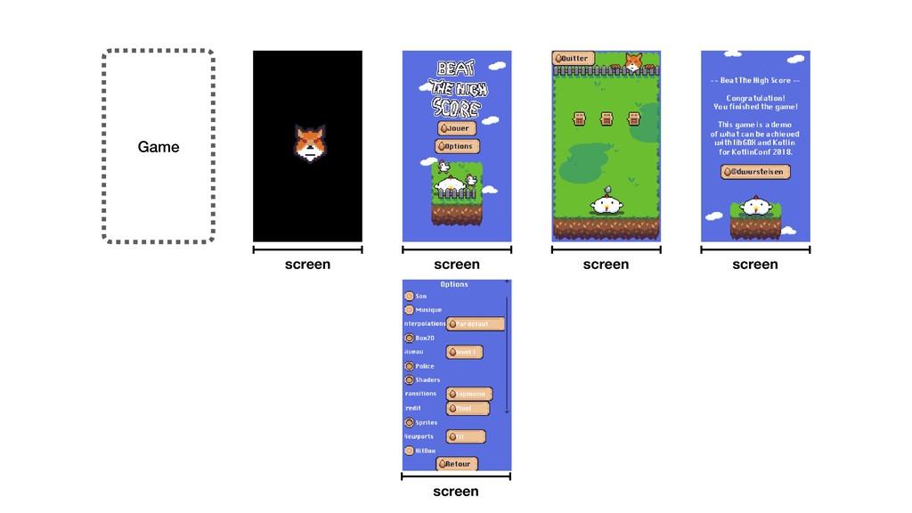 Game screen screen screen screen screen