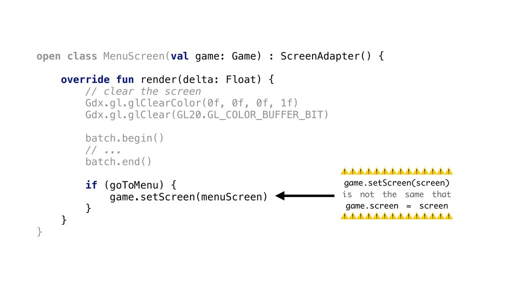 open class MenuScreen(val game: Game) : ScreenA...