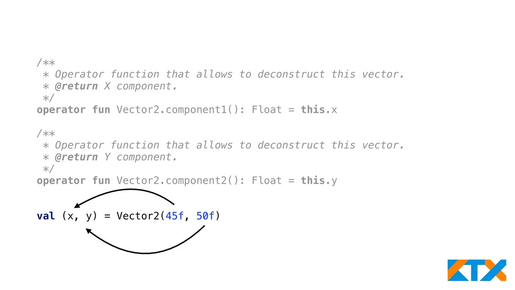 /** * Operator function that allows to deconstr...
