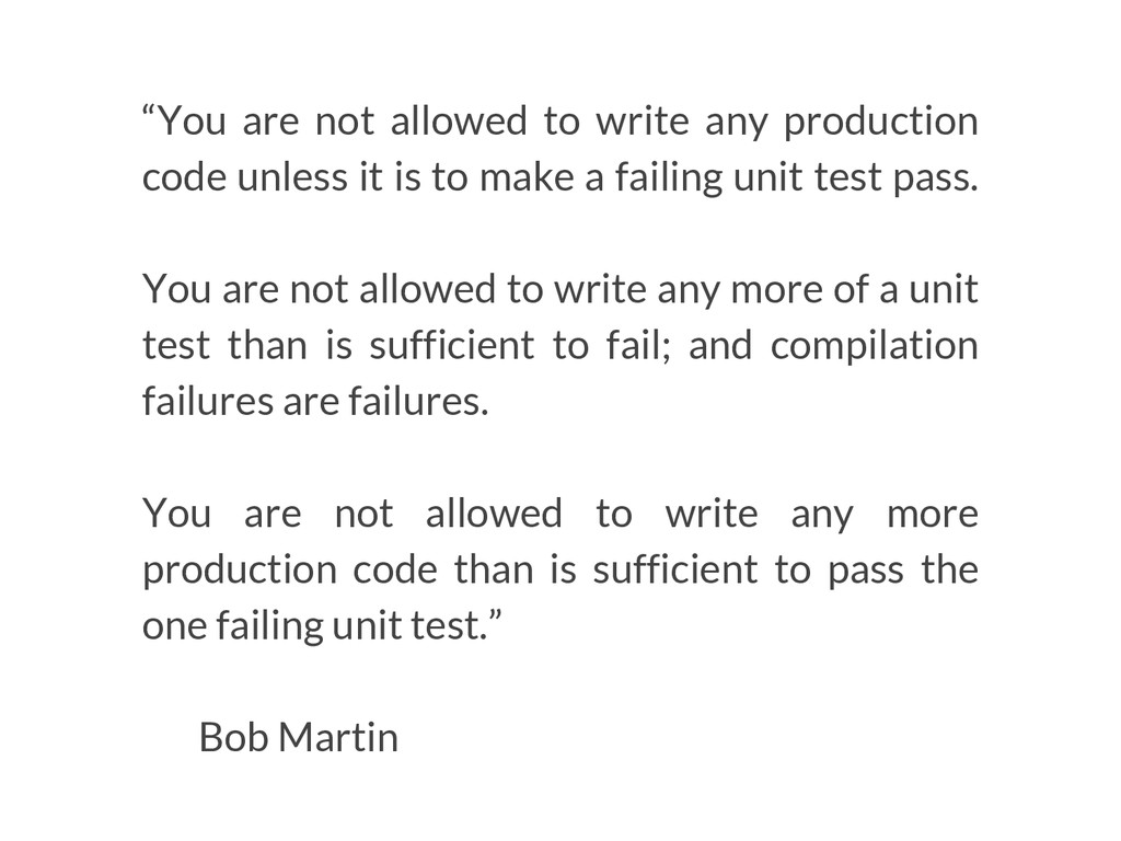 """You are not allowed to write any production co..."