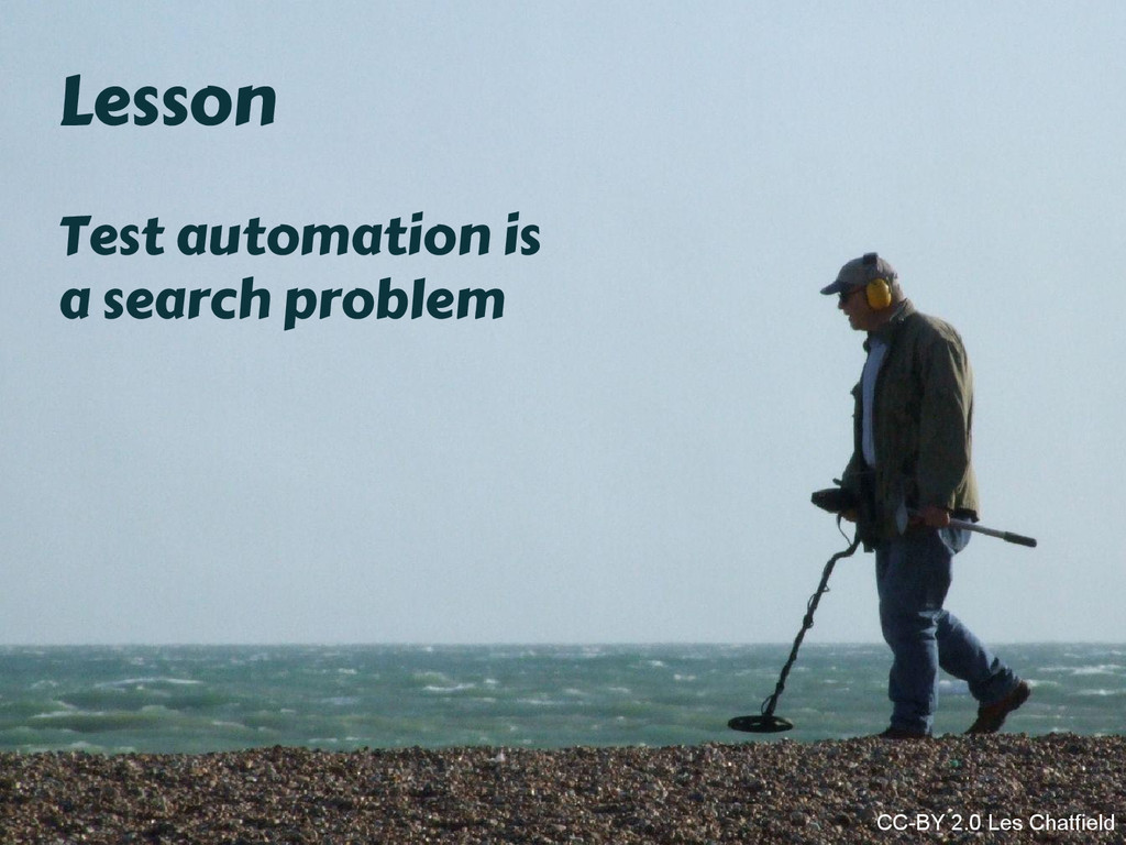 Lesson Test automation is a search problem CC-B...