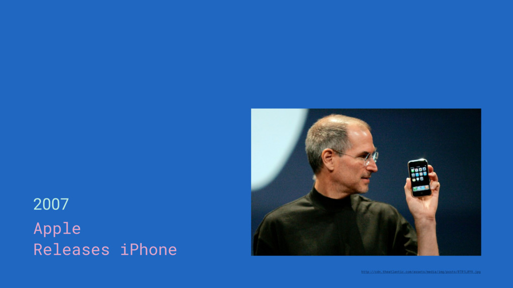 2007 Apple Releases iPhone http://cdn.theatlant...