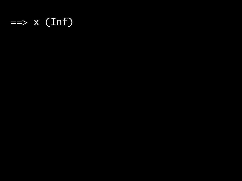 ==> x (Inf)