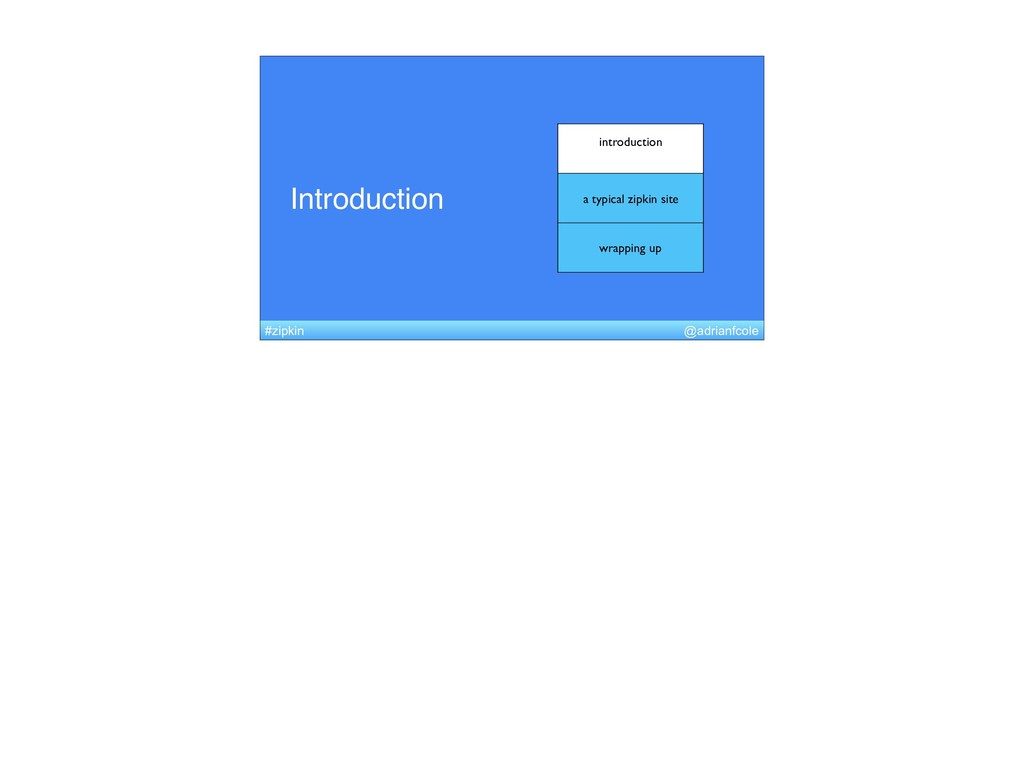 Introduction introduction a typical zipkin site...