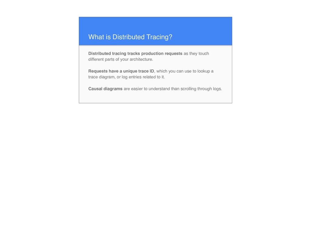What is Distributed Tracing? Distributed tracin...