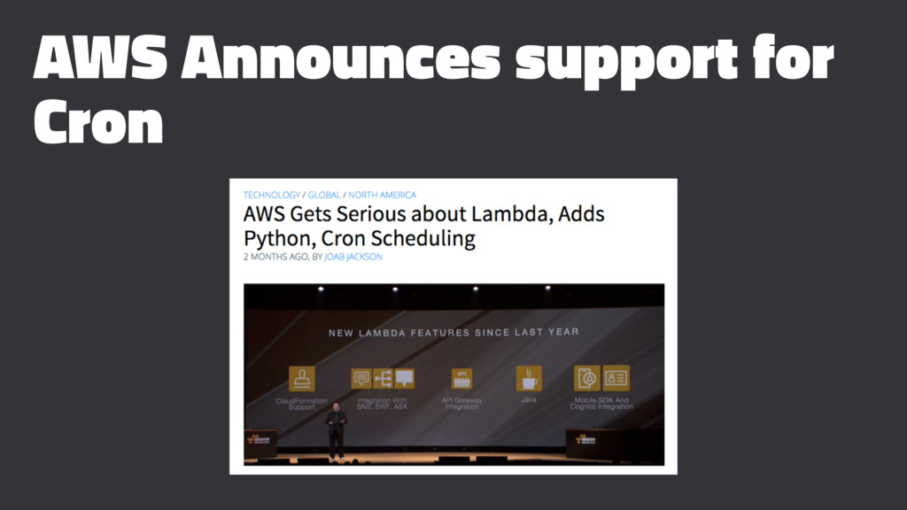 AWS Announces support for Cron