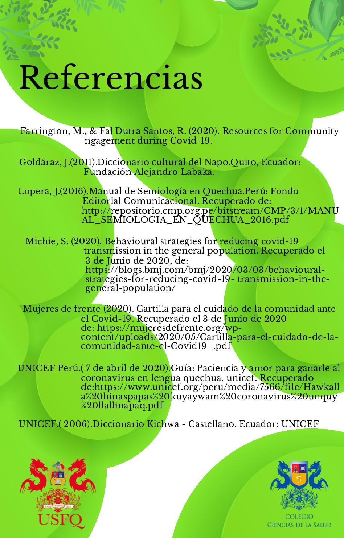 Referencias UNICEF Perú.( 7 de abril de 2020).G...